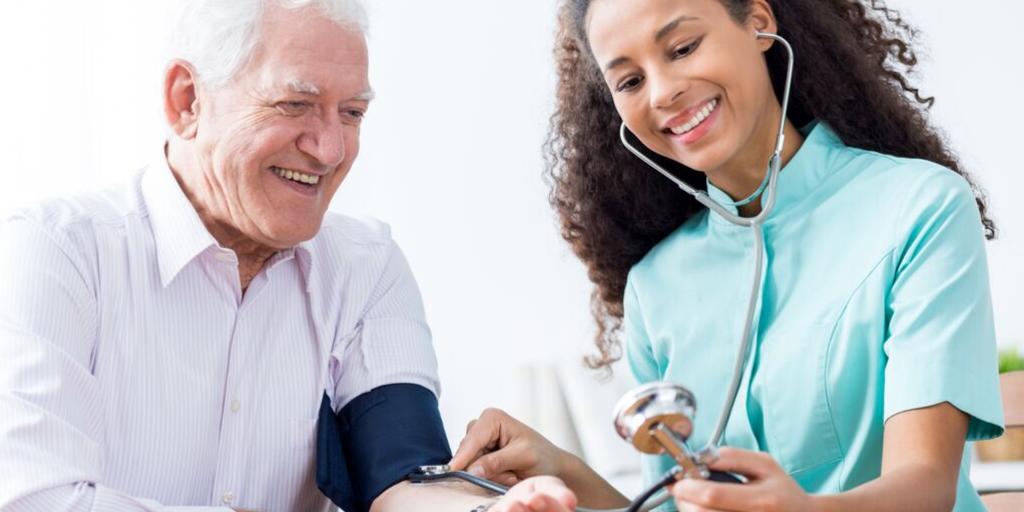 White coat hypertension in an elderly man.