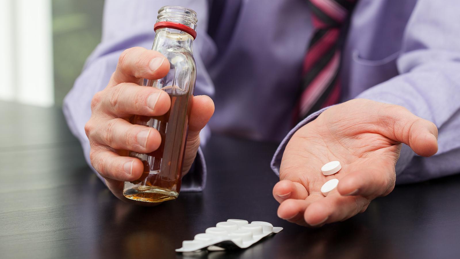 Ibuprofen and alcohol - a bad mix.