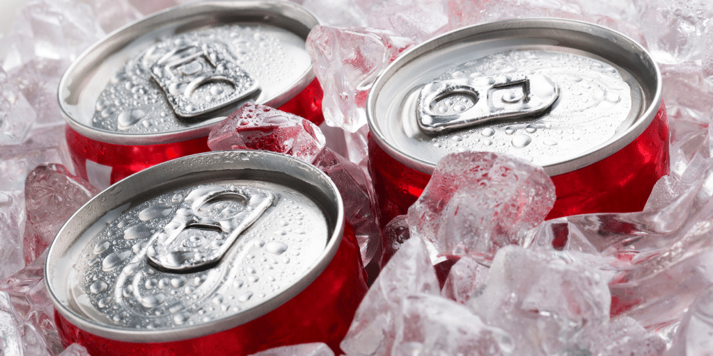 pop soda are fizzy drinks with high amount of sugar.